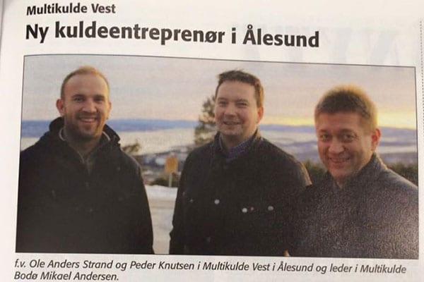 Ny kuldeentreprenør i Ålesund
